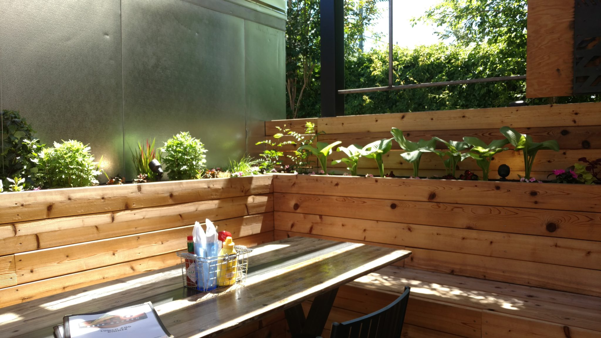 Raised Planters in Beer Garden